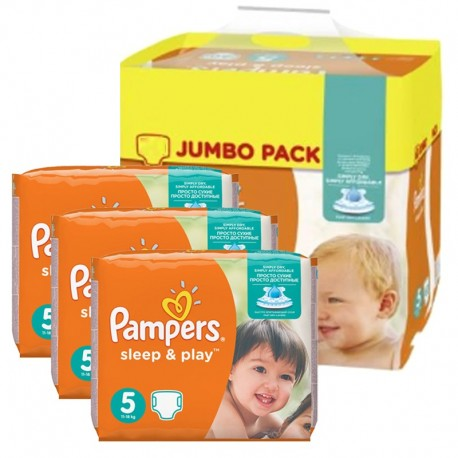 348 Couches Pampers Sleep & Play taille 5 de Starckman