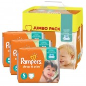 348 Couches Pampers Sleep & Play taille 5
