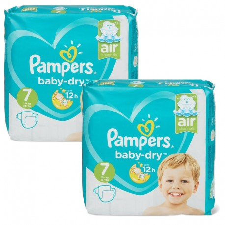 115 Couches Pampers Baby Dry taille 7 de Starckman