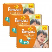 Maxi Pack 126 Couches Pampers Sleep & Play sur auchan