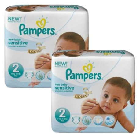 Couches Pampers New Baby Sensitive taille 2 - 120 couches de Starckman