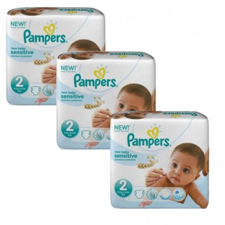 Couches Pampers New Baby Sensitive taille 2 - 180 couches de Starckman