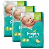 126 Couches Pampers Baby Dry sur auchan