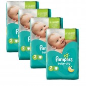 168 Couches de Pampers Baby Dry sur auchan