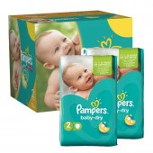 210 Couches de Pampers Baby Dry sur auchan