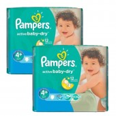 108 Couches Pampers Active Baby Dry taille 4+
