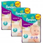 Maxi Pack 282 Couches Pampers Active Fit sur auchan