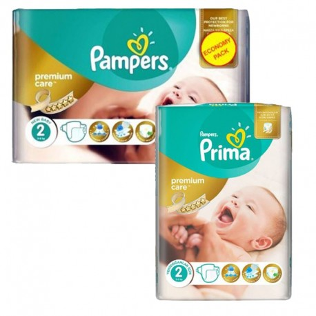 114 Couches Pampers new baby - premium protection taille 2 de Starckman