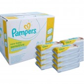 Lingettes Pampers Sensitive - 504 lingettes