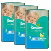 Maxi Pack 264 Couches Pampers d'Active Baby Dry sur auchan