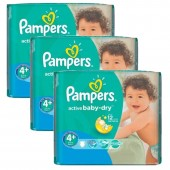 140 Couches Pampers Active Baby Dry taille 4+