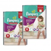28 Couches Pampers Active Fit - Pants taille 6