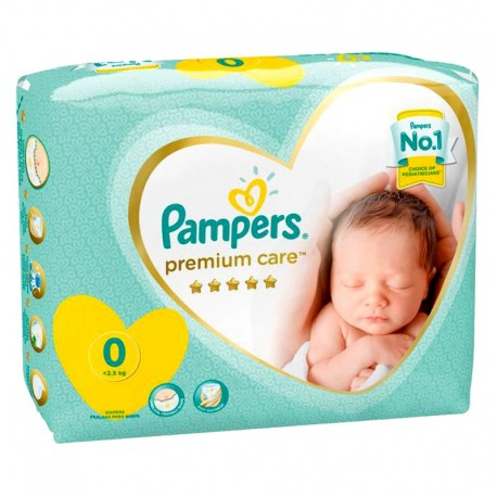 30 Couches Pampers New Baby Premium Care taille 0 de Starckman