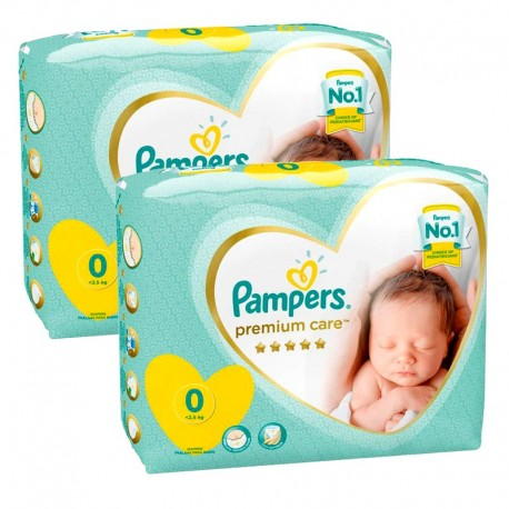 60 Couches Pampers New Baby Premium Care taille 0 de Starckman