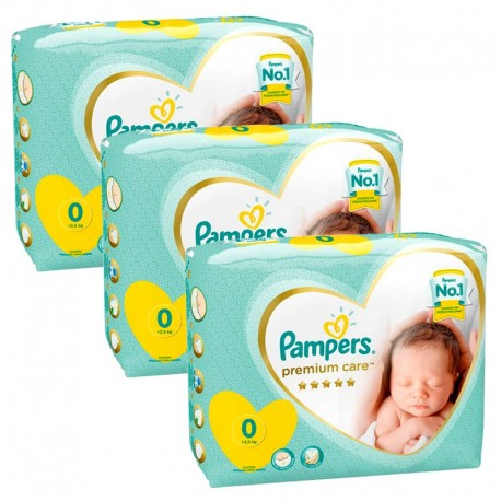 90 Couches Pampers New Baby Premium Care taille 0 de Starckman