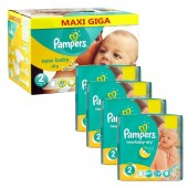 Mega Pack 301 Couches de Pampers New Baby Dry sur auchan