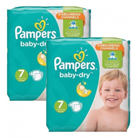 60 Couches Pampers Baby Dry taille 7 de Starckman