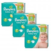 120 Couches Pampers Baby Dry taille 7