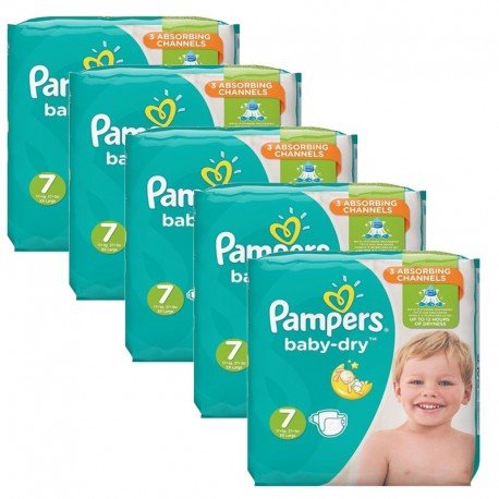 210 Couches Pampers Baby Dry taille 7 de Starckman