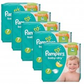 Mega Pack 210 Couches Pampers de Baby Dry sur auchan