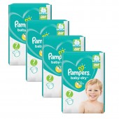Maxi Pack 216 Couches de Pampers Baby Dry sur auchan