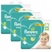 174 Couches Pampers Baby Dry taille 7