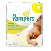 56 Lingettes Bébés Pampers New Baby Sensitive sur auchan