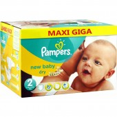 Giga pack 258 Couches Pampers New Baby Dry sur auchan