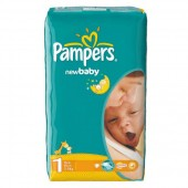 Pack de 43 Couches de Pampers New Baby Dry sur layota