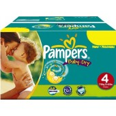 Giga pack 205 Couches Pampers Baby Dry sur auchan