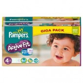 Pack de 168 Couches Pampers Active Fit sur choupinet