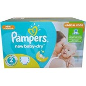 Maxi giga pack 344 Couches de Pampers New Baby Dry sur auchan