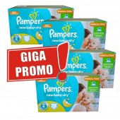 Maxi giga pack 387 Couches Pampers New Baby Dry sur auchan