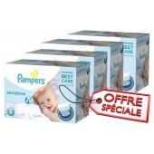 Pack jumeaux 600 Couches Pampers de New Baby Sensitive sur auchan