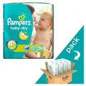Giga pack 246 Couches Pampers de Baby Dry sur auchan