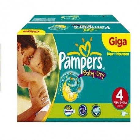 132 Couches Pampers Baby Dry taille 4 de Starckman