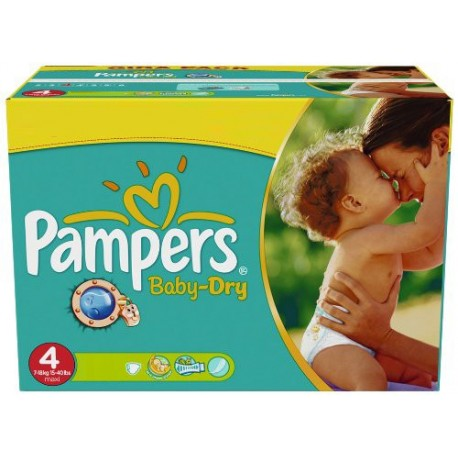 176 Couches Pampers Baby Dry taille 4 de Starckman
