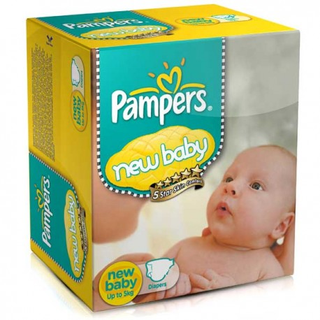Couches Pampers New Baby Dry taille 2 - 288 couches de Starckman
