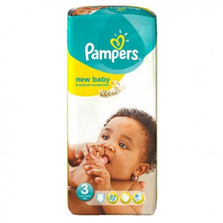 20 Couches Pampers New Baby Premium Protection taille 3 de Starckman