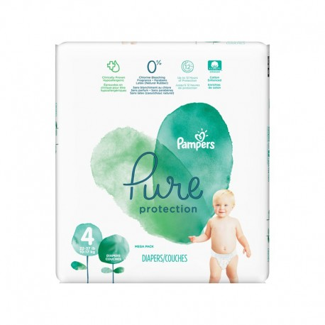 19 Couches Pampers Pure Protection taille 4 de Starckman
