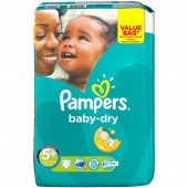 Pack 56 Couches Pampers de Baby Dry sur auchan