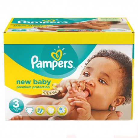 60 Couches Pampers New Baby Premium Protection taille 3 de Starckman
