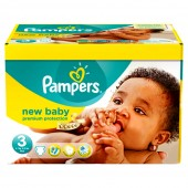 140 Couches de Pampers New Baby Premium Protection sur auchan