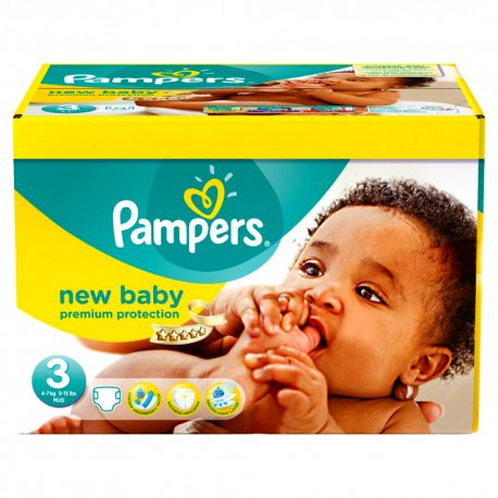 180 Couches Pampers New Baby Premium Protection taille 3 de Starckman