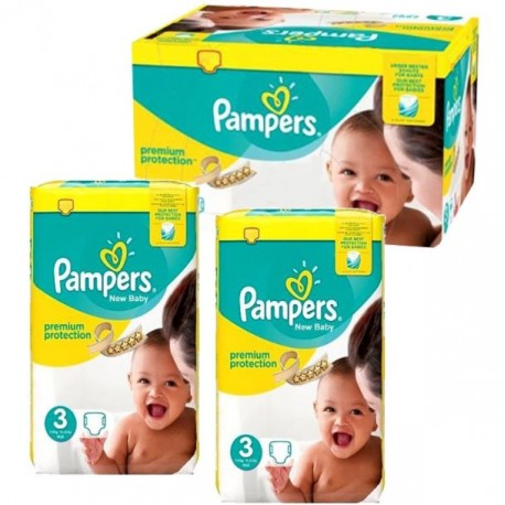 Maxi mega pack Couches Pampers New Baby Premium Protection taille 3 de Starckman