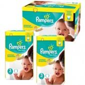 Maxi mega pack de 420 Couches Pampers de New Baby Premium Protection sur auchan