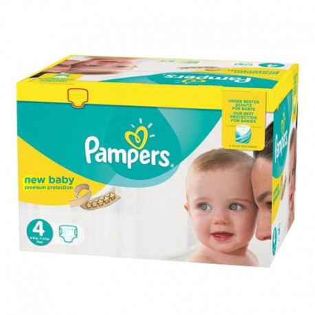 180 Couches Pampers New Baby Premium Protection taille 4 de Starckman