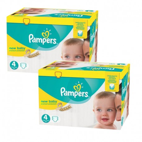220 Couches Pampers New Baby Premium Protection taille 4 de Starckman