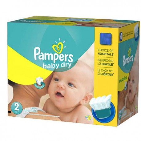 138 Couches Pampers Baby Dry taille 2 de Starckman