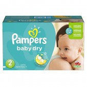 Giga pack de 276 Couches Pampers de Baby Dry sur auchan